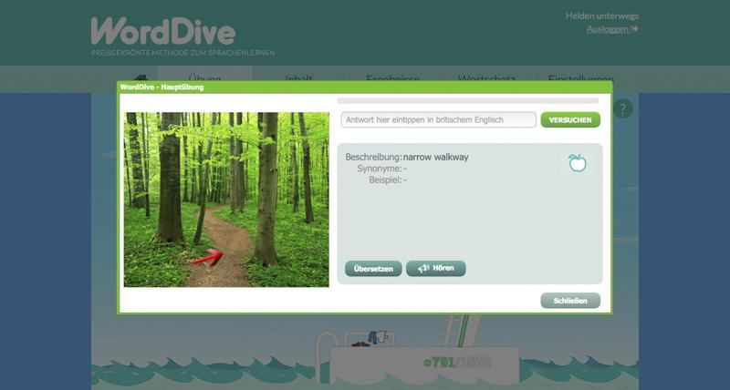 WordDive - Die Hauptübung