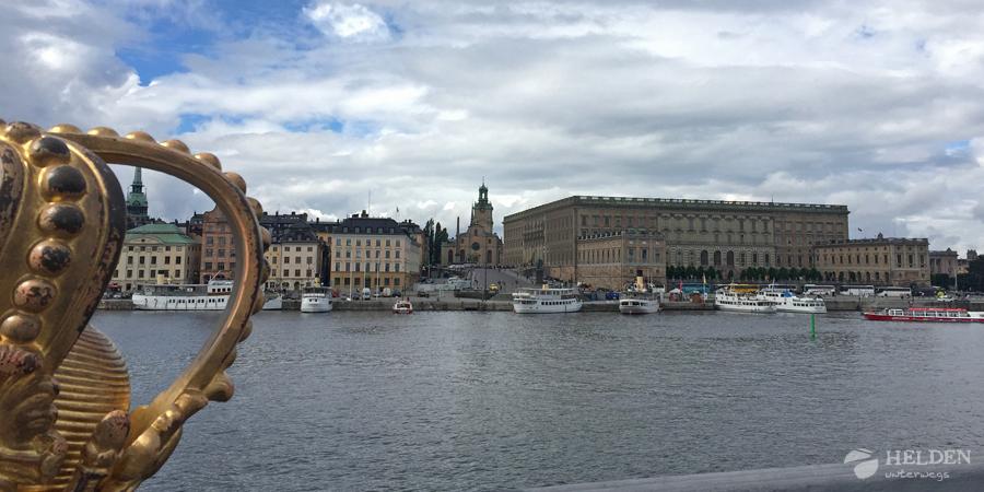 Skeppsholmsbron med blikk på Gamla Stan