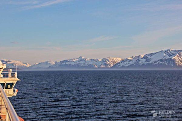 Aussicht vom Schiff der Hurtigruten