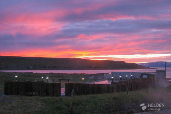Aussicht vom isländischen Campingplatz