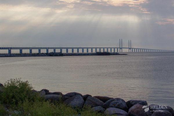 Die Öresundbrücke vom Schwedischen Festland aus gesehen