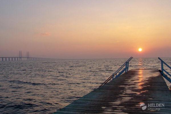 Sicht vom Campingplatz auf die Öresundbrücke